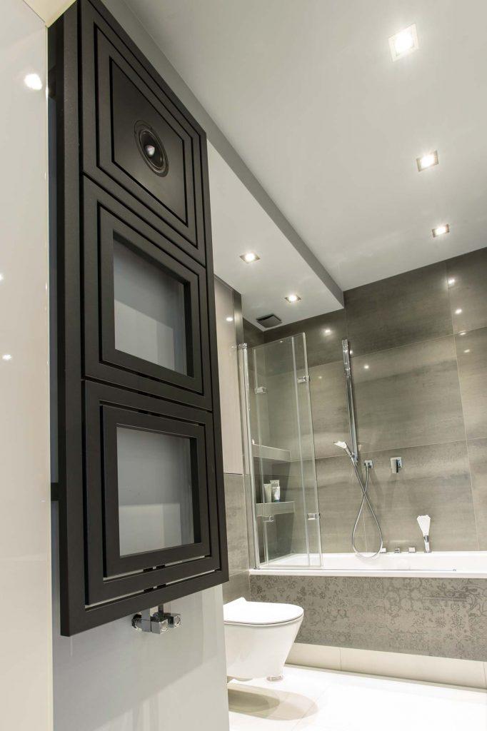 Grzejnik Libra Audio LA wnętrze łazienki