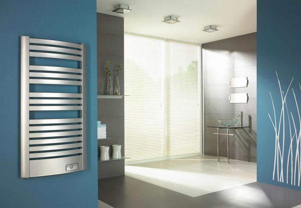Grzejnik elektryczny dekoracyjny łazienkowy Quatro EQB aranżacja wnętrz