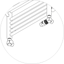 Zestaw trójnikowy termostatyczny Schlosser - głowica